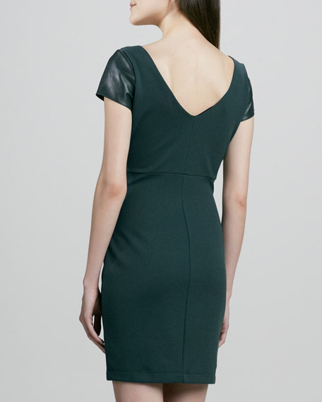 Dante Dress with Faux-Leather Top
