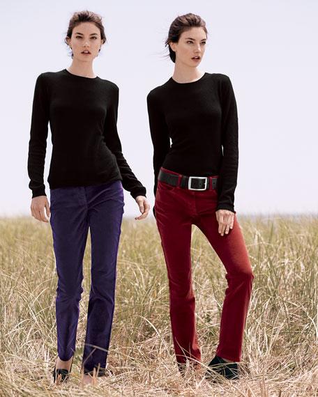 Barbara Boot-Cut Corduroy Jeans
