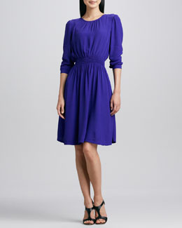kate spade new york zari dress with shirred waist