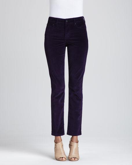 Marilyn Straight-Leg Corduroy Jeans, Petite
