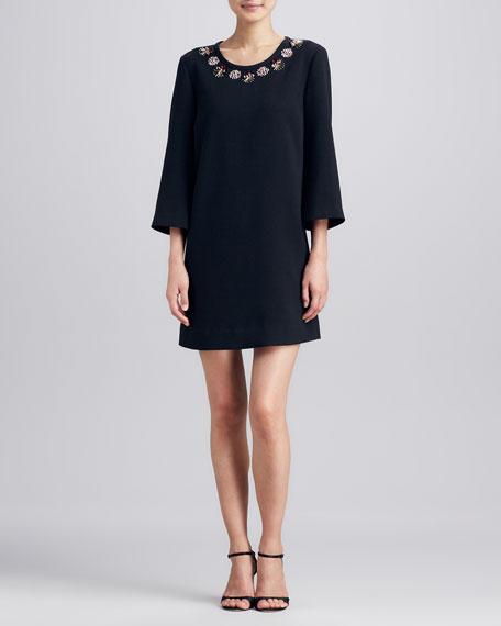 lucy embellished-neck dress