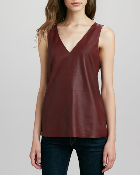 Lanis Knit-Back Leather Tank