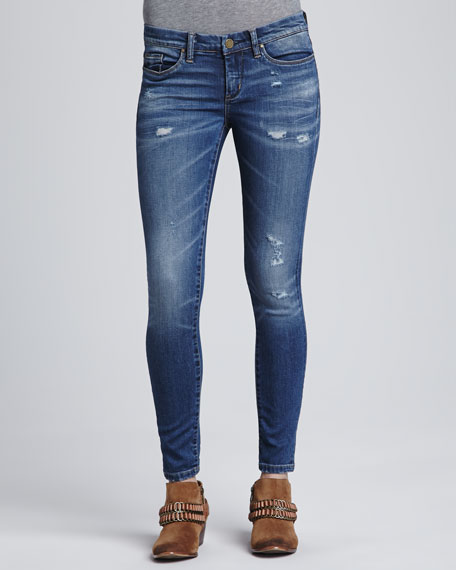 Faded Destroyed Skinny Jeans