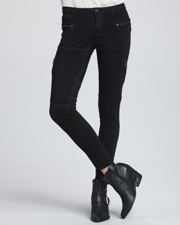 Blank Second Skin Utility Jeans, Black