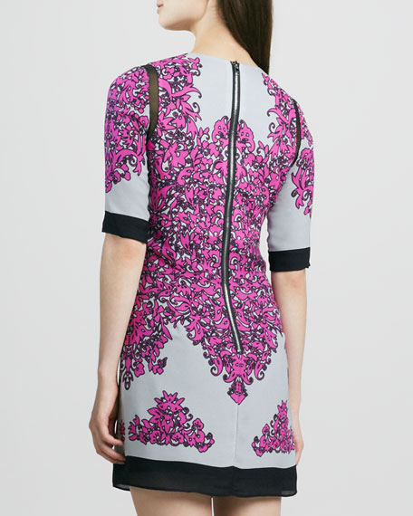 Blaire Combo Printed Half-Sleeve Shift Dress