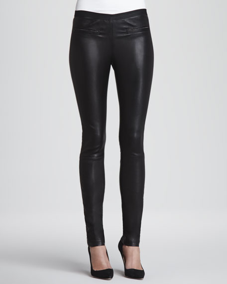 Monic Leather Skinny Pants