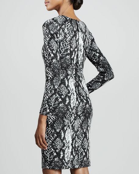 Snake-Print Dress