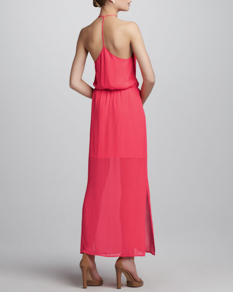 T-Back Slit-Skirt Maxi Dress