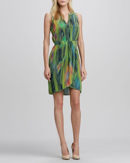 Sleeveless Printed Tulip-Skirt Dress