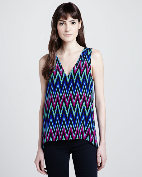 Zigzag V-Back Top