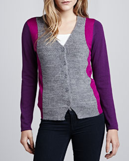 Design History Colony Colorblock Combo Cardigan