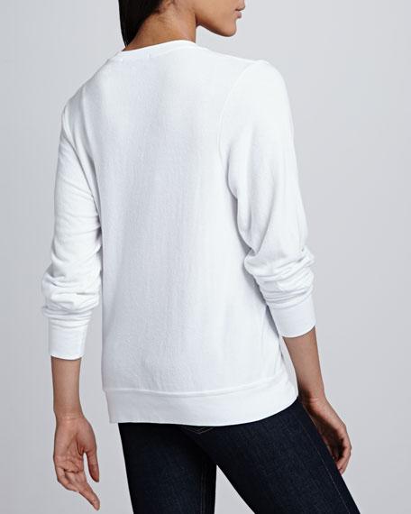 Love Junkie V-Neck Top, Clean White