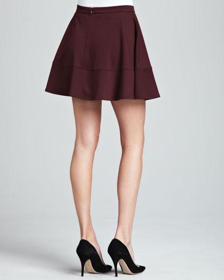 Flared Ponte Miniskirt