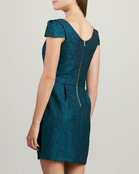 Hillary Shimmery Brocade Dress