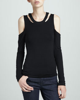 Lovers + Friends Late Night Cutout Top