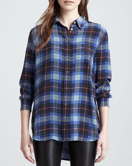 Equipment Reese Punk Plaid Blouse