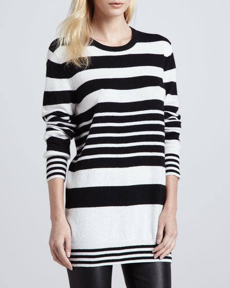 Rei Mixed-Stripe Cashmere Sweater