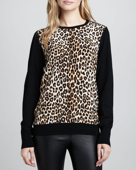 Roland Leopard-Front Sweater