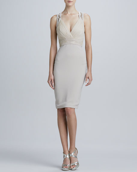 Sleeveless V-Neck Cocktail Dress