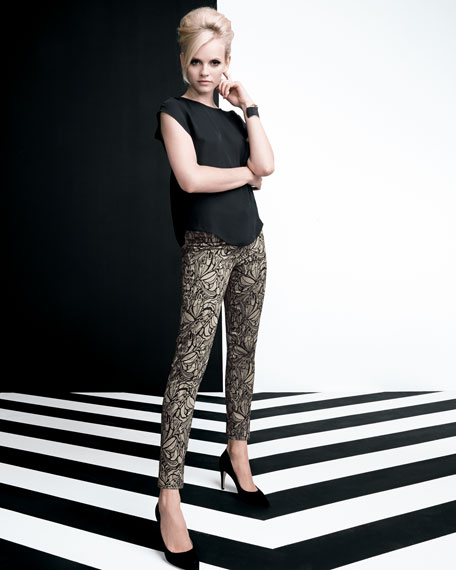 New Lace Skinny Ankle Pants