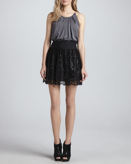 Margaret Black Lace Skirt