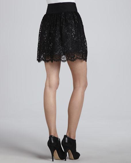 Margaret Black Lace Skirt