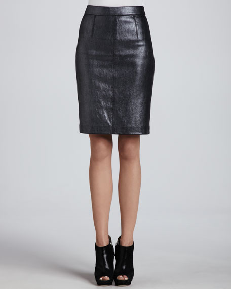 Edith Leather Pencil Skirt