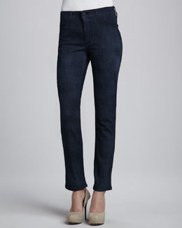 NYDJ Sheri Lattice-Wash Skinny Jeans