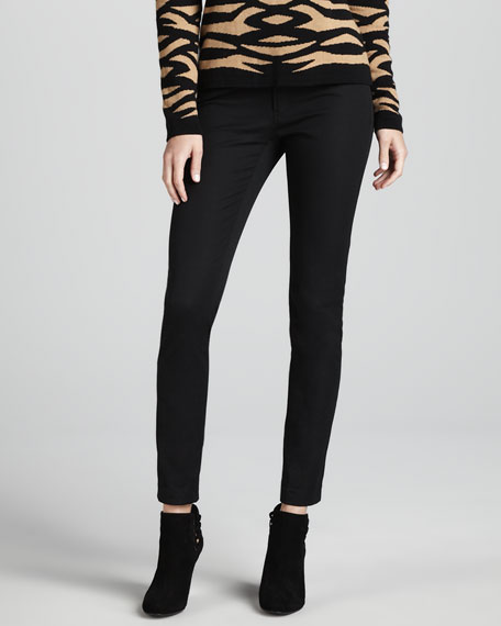 Ankle-Cropped Skinny Pants