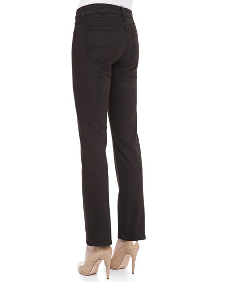 Marilyn Straight-Leg Suede Jeans,