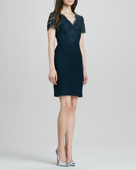 Keirnan Lace/Tweed Dress