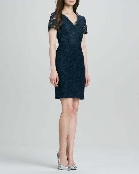 Keirnan Lace/Tweed Dress