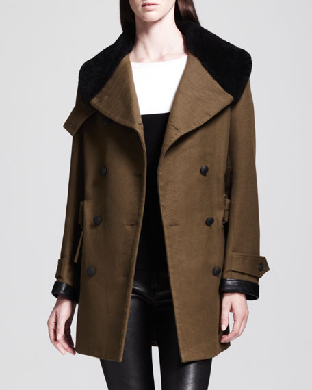 Falcon Long Belted Peacoat