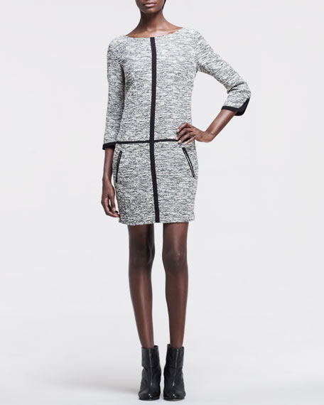 Camden Melange-Knit Dress