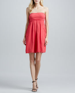 Velvet by Graham & Spencer Hayzell Strapless Jersey-Bodice Dress