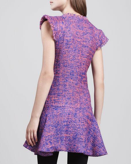Adalina Flare-Hem Tweed Dress
