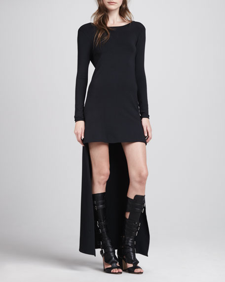 Maddie High-Low Dress, Black