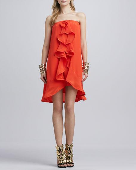 Musa Ruffled Strapless Dress