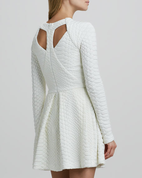 Narelle Structured Python-Texture Dress