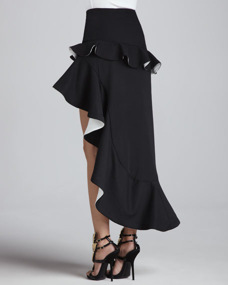 Trish Ruffled Contrast Skirt
