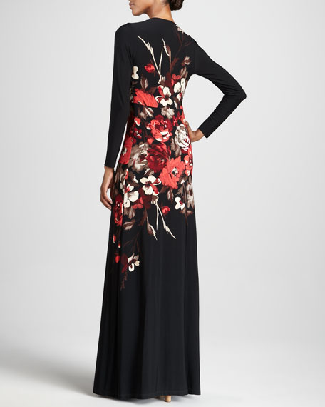 Poppy Print Maxi Dress, Women's