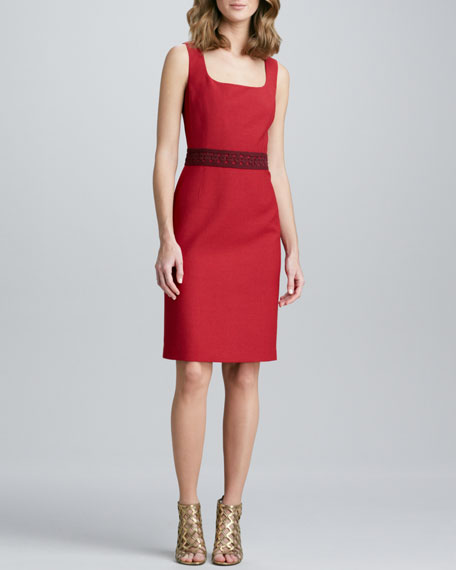 Kari Sleeveless Crepe Dress