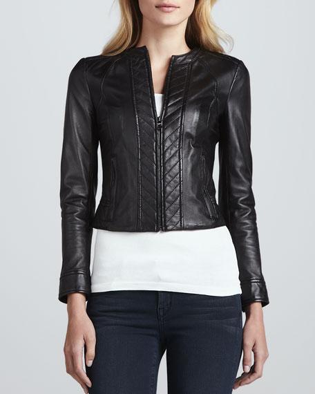 Daphne Lambskin Cropped Jacket