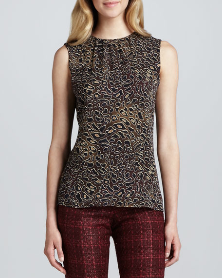 Tanya Abstract Leopard-Print Top