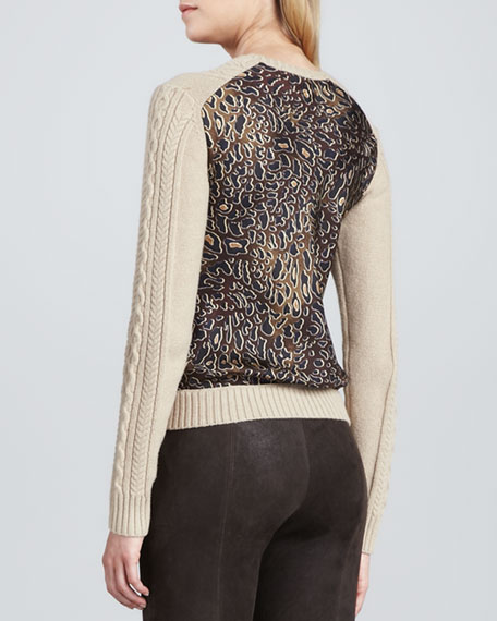 Kendra Leopard-Back Sweater