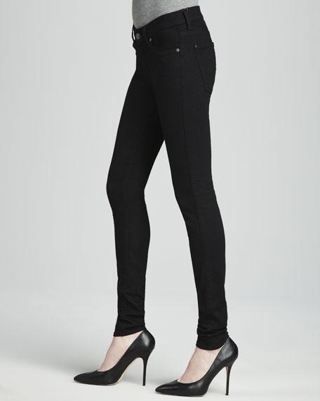 Second Skin Slim Illusion Skinny Jeans Black