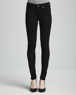 7 For All Mankind Second Skin Slim Illusion Skinny Jeans Black