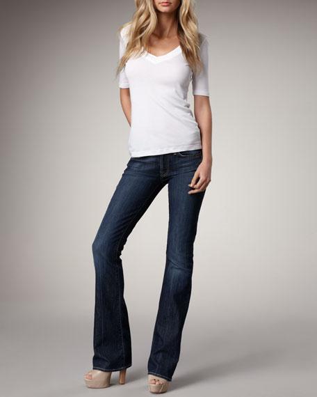 "Boot-Cut NY Dark-Wash Jeans, 32"" inseam"