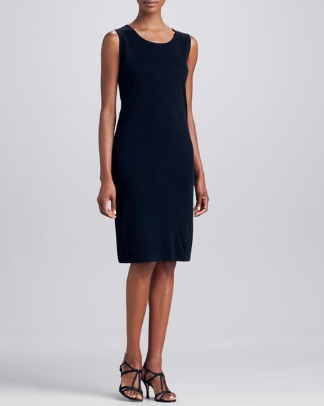 Sleeveless Jersey Dress, Black