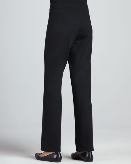 Heavyweight Knit Modern Straight-Leg Pants